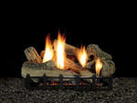 Canyon Ceramic Fiber Log Set with Millivolt Burner 24