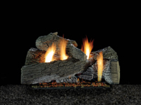 Wildwood Refractory Log Set with Millivolt Burner 24